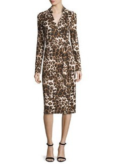 Diane von Furstenberg Cybil Cheetah-Print Silk Jersey Wrap Dress