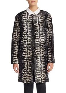 Diane von Furstenberg Cymbeline Calf Hair Coat