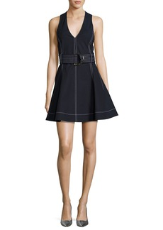 Diane von Furstenberg D-Ring Belted Fit & Flare Dress