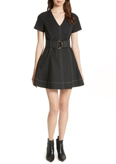 Diane von Furstenberg D-Ring Fit & Flare Dress
