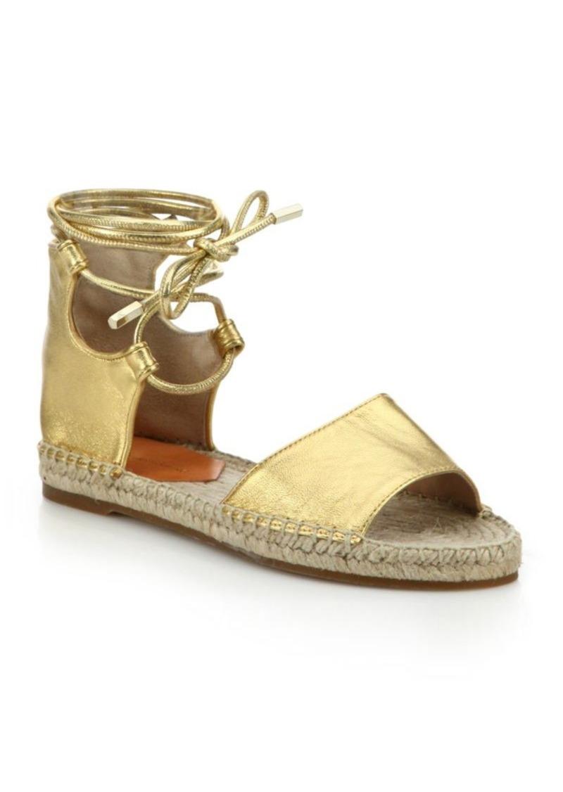 20e1964e213 Dakota Metallic Leather Gladiator Espadrille Sandals. Diane Von Furstenberg
