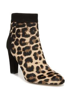 Diane von Furstenberg Daphne Leopard Print Genuine Calf Hair Bootie (Women)