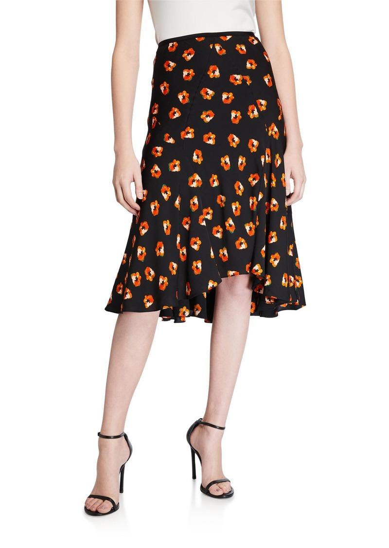 Diane von Furstenberg Debra Floral-Print Skirt