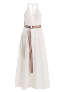 Diane Von Furstenberg Deep V-neck linen dress
