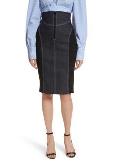 Diane von Furstenberg Denim Pencil Skirt