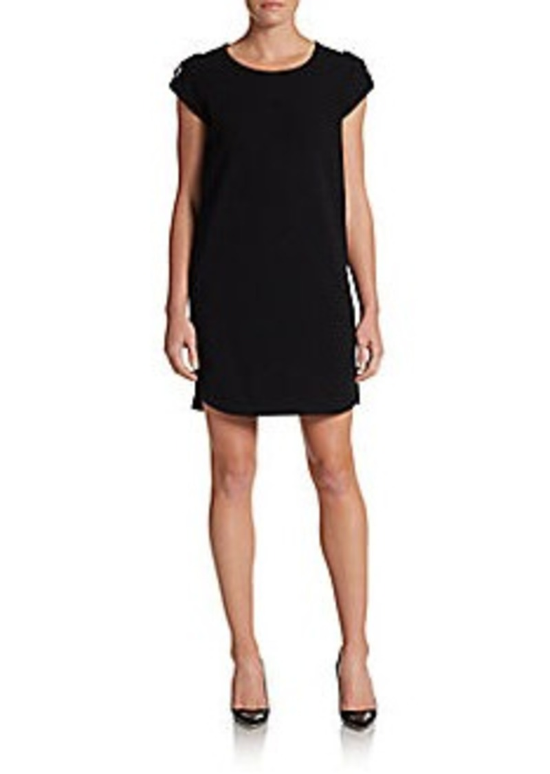 diane von furstenberg diane von furstenberg dominique crepe shift dress black dresses shop. Black Bedroom Furniture Sets. Home Design Ideas