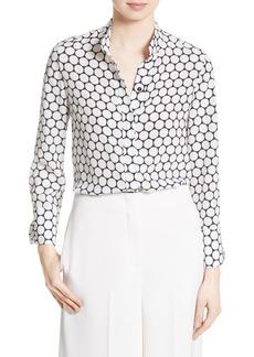 Diane von Furstenberg Dot Print Silk Shirt