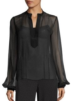 Diane von Furstenberg Dotted Silk Blouse