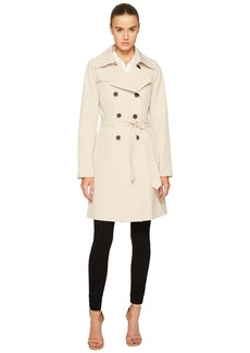 Diane Von Furstenberg Double Breasted Belted Trench Coat