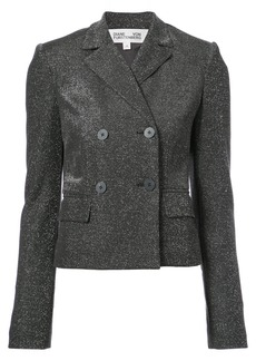 Diane Von Furstenberg double breasted cropped jacket