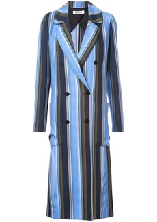 Diane Von Furstenberg double-breasted long jacket