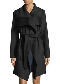 Diane von Furstenberg Double-Face Wool-Blend Wrap Coat