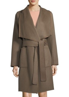 Diane von Furstenberg Double-Face Wool Wrap Coat