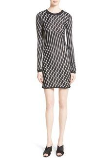 Diane von Furstenberg Double Layer Stripe Sweater Dress