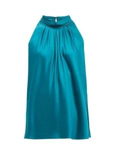 Diane Von Furstenberg Dove high-neck satin blouse