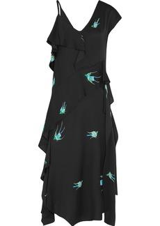 Diane von Furstenberg Draped printed silk-blend midi dress