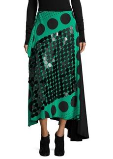 Diane von Furstenberg Draped Silk Skirt