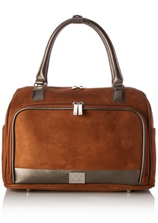 "Diane von Furstenberg DVF Katy 16"" Fold Over Tote Handbag"