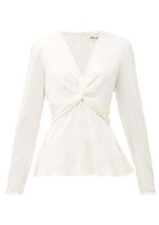 Diane Von Furstenberg Eileen silk-blend cloqué blouse