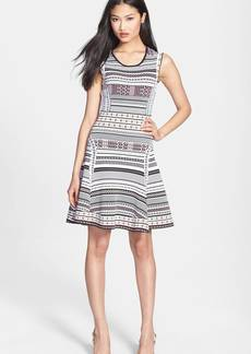 Diane von Furstenberg 'Eleanor' Print Knit A-Line Dress