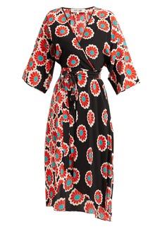 Diane Von Furstenberg Eloise blossom-print silk-charmeuse wrap dress