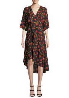 Diane von Furstenberg Eloise Floral-Print Asymmetrical Wrap Dress