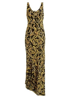 Diane Von Furstenberg Elsden-print scoop-neck silk-crepe dress