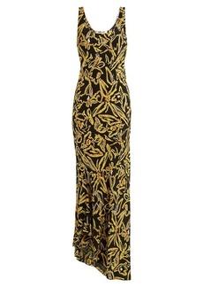Diane Von Furstenberg Elsden-print scoop-neck silk-crepe dress