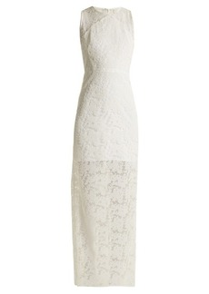 Diane Von Furstenberg Embroidered-mesh sleeveless dress