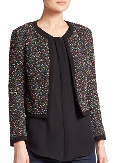 Diane von Furstenberg Emery Printed Tweed Jacket