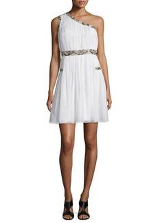 Diane von Furstenberg Emilyn One-Shoulder Silk Midi Dress