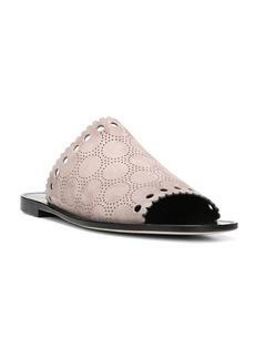 Diane Von Furstenberg Estevan Suede Slip-On Flat Sandals