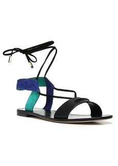 Diane von Furstenberg Estonia Leather & Suede Lace-Up Sandals