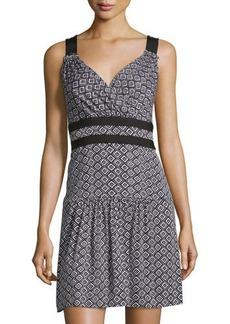 Diane von Furstenberg Eugenia Diamond-Dot-Print Dress