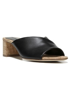 Diane von Furstenberg Faleria Cork Heel Leather Mules