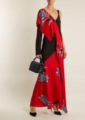 Diane Von Furstenberg Farren asymmetric floral-print stretch-silk dress