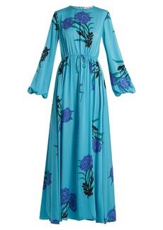 Diane Von Furstenberg Farren-print stretch-silk maxi dress
