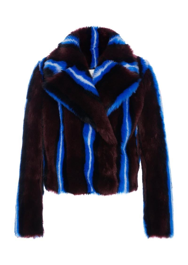 b020b2a3a75f Diane Von Furstenberg Diane von Furstenberg Faux Fur Jacket