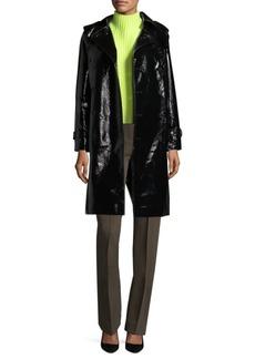 Diane Von Furstenberg Faux Leather Trench Coat