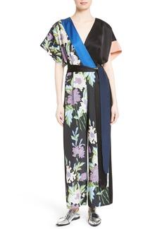 Diane von Furstenberg Faux Wrap Silk Jumpsuit