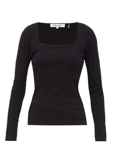 Diane Von Furstenberg Fera scoop-neck pointelle sweater