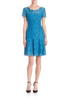 Diane von Furstenberg Fifi Short Sleeve Lace Dress