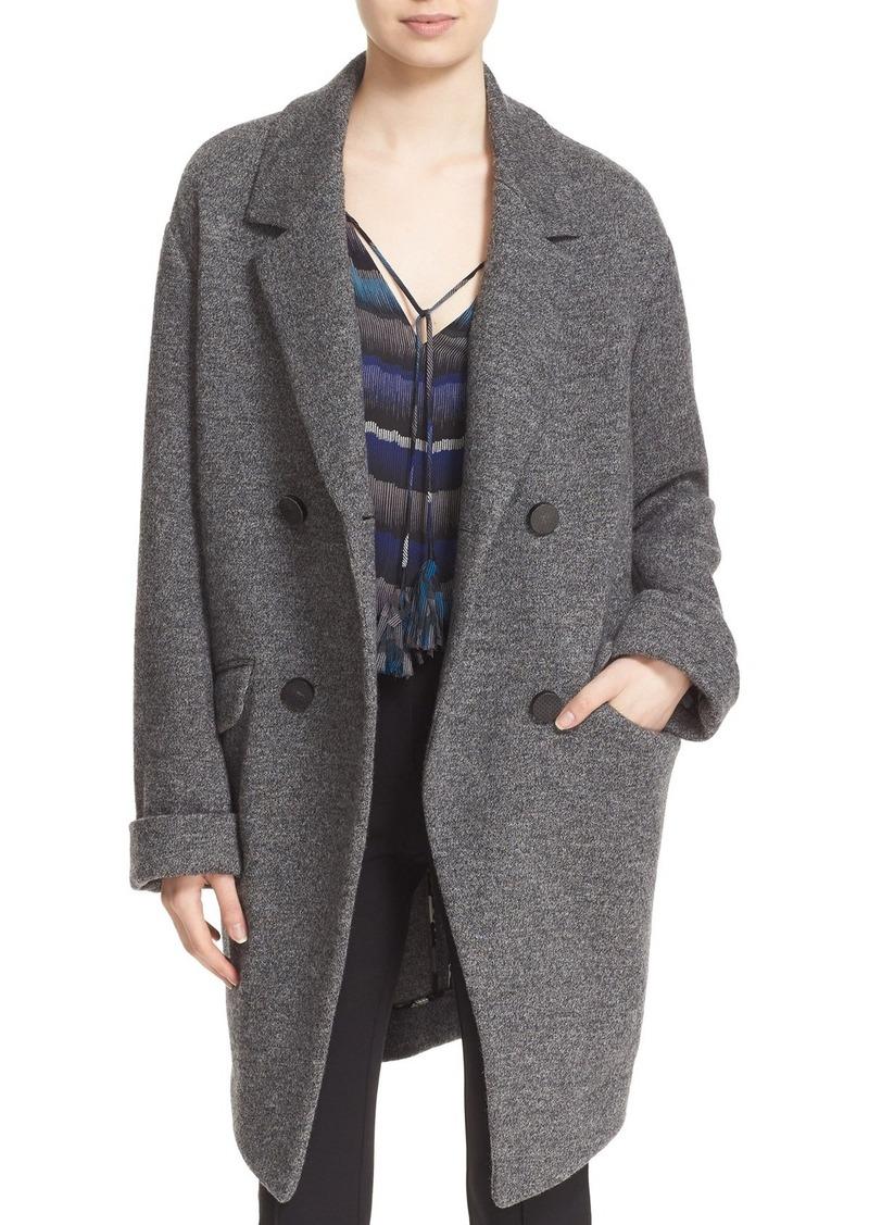 Diane von Furstenberg 'Finola' Double Breasted Wool Knit Coat