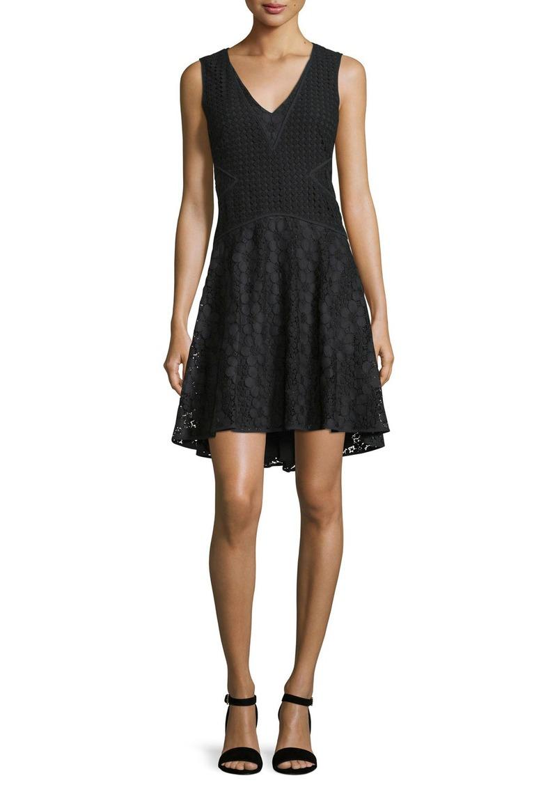 Diane von Furstenberg Fiorenza Sleeveless Lace A-Line Dress