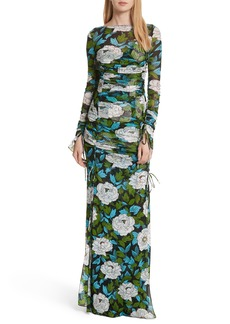 Diane von Furstenberg Fitted Mesh Maxi Dress