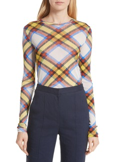 Diane von Furstenberg Fitted Print Top