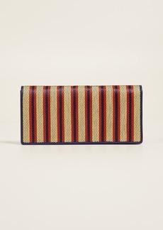 Diane von Furstenberg Flap Continental Raffia Wallet