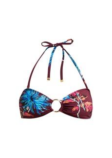 Diane Von Furstenberg Floral bandeau bikini top