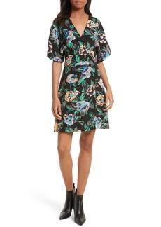 Diane von Furstenberg Floral Faux Wrap Dress