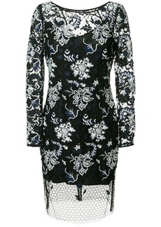 Diane Von Furstenberg floral lace overlay dress - Black